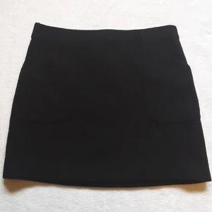 J.crew black wool skirt
